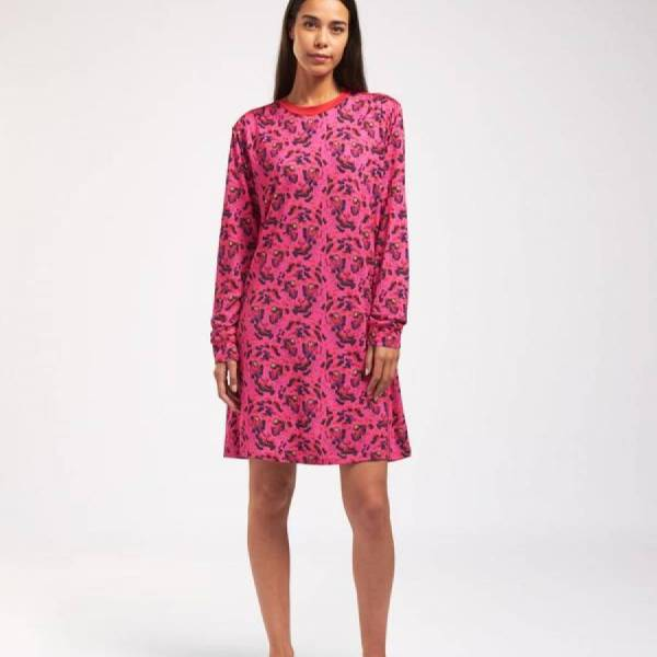 Cyell Nachthemd kort Cyell tiger dress long sleeve roze