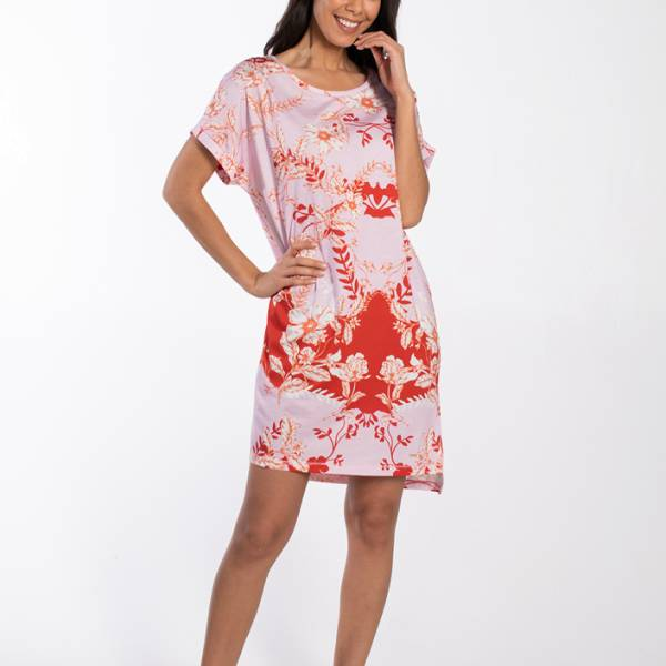 Cyell Nachthemd kort Cyell mirror dress short sleeve roze