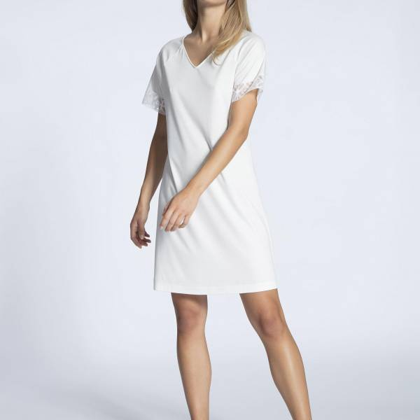 Calida Nachthemd kort Calida cosy cotton sleepdress ivoor