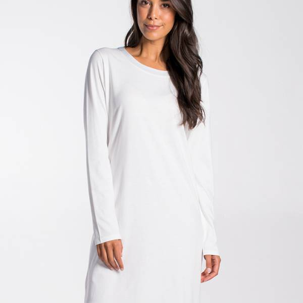 Cyell Nachthemd kort Cyell solids cloudy dress long sleeve champagne