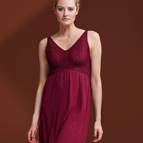 Essenza Nachthemd kort Essenza sarah uni nh sleeveless rood