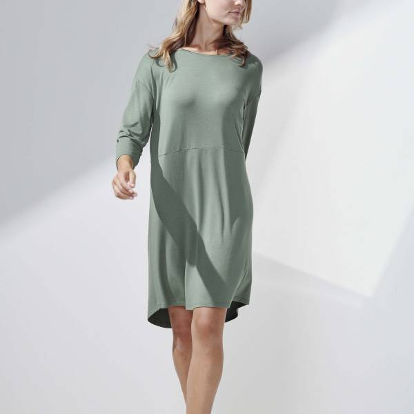 Essenza Nachthemd kort Essenza lykke uni nightdress 3/4 sleeve groen