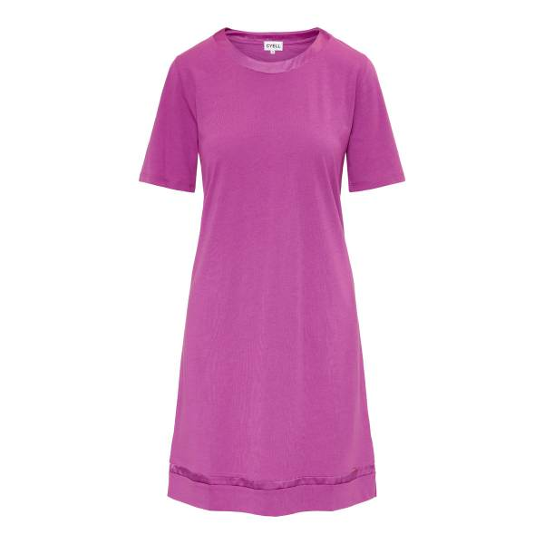 Cyell Nachthemd kort Cyell satin solids plum dress paars