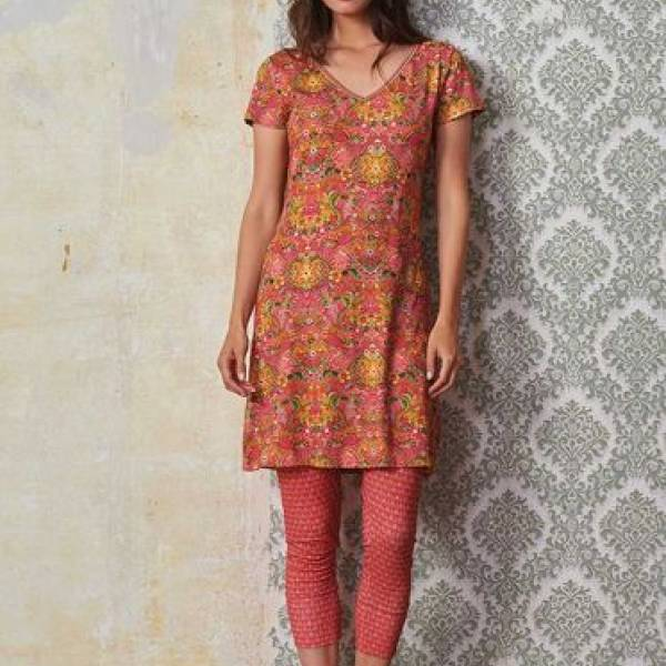 PIP Studio Nachthemd kort PIP Studio djoy night dress pippadour roze