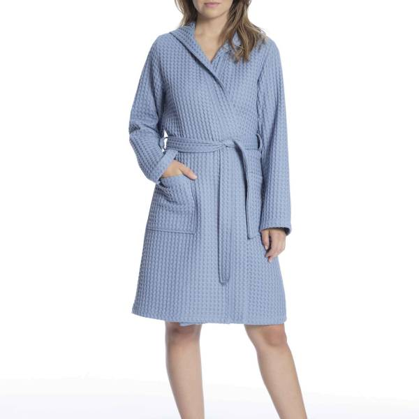 Taubert Duster/ochtendjas Taubert nature ladies bathrobe blauw