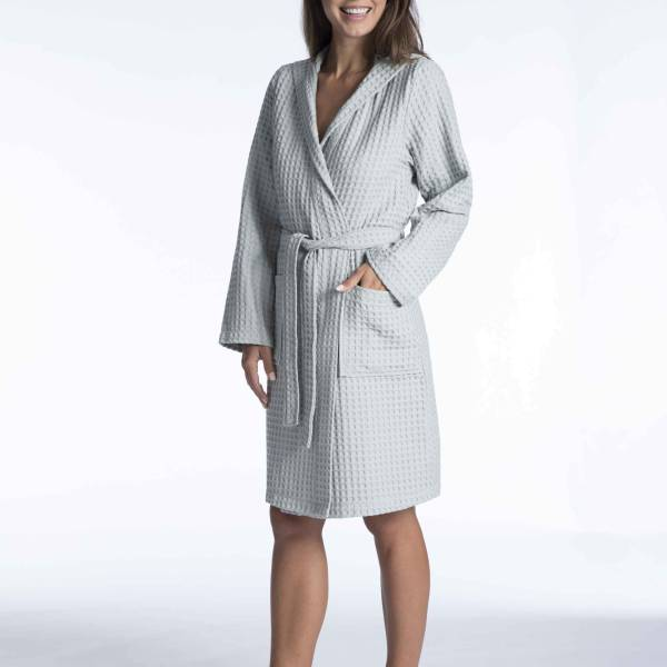 Taubert Duster/ochtendjas Taubert nature ladies bathrobe antraciet