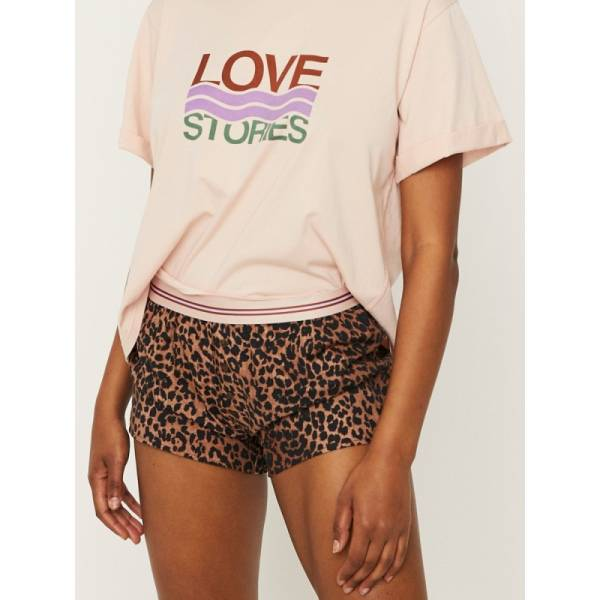 Love Stories Dames nachtmode overig Love Stories sunday short bruin