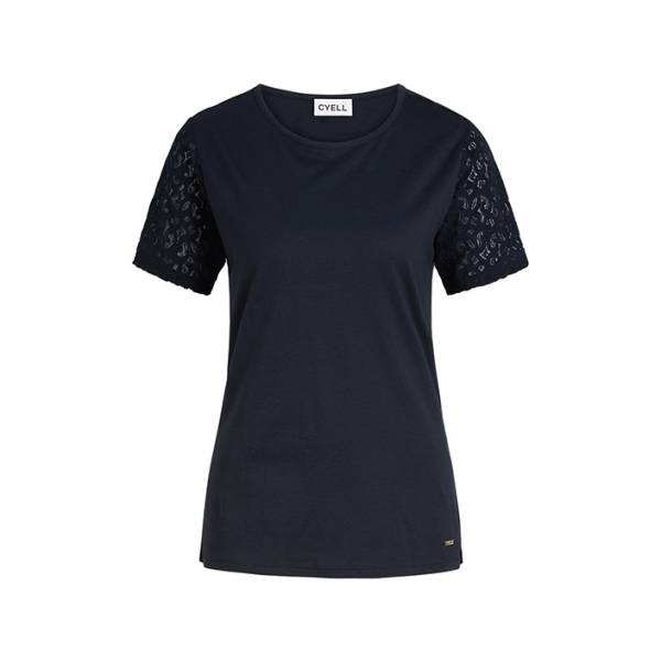 Cyell Dames nachtmode overig Cyell harmony ink shirt short sleeve blauw