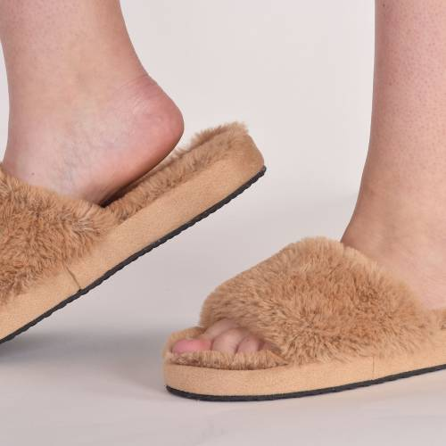 Lords & Lilies pantoffels camel