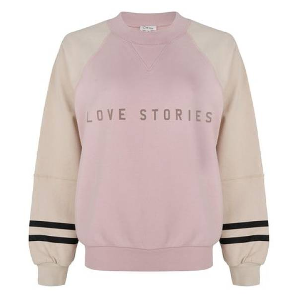 Love Stories Dames nachtmode overig Love Stories boris coverupt sweater roze