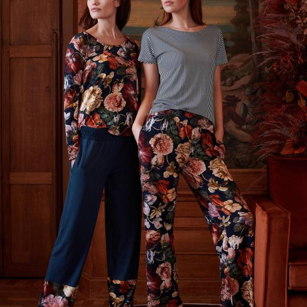 Essenza Dames nachtmode overig Essenza naomi anneclaire trousers long blauw