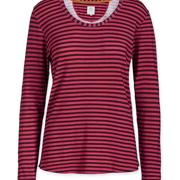 PIP Studio Dames nachtmode overig PIP Studio trixy t-shirt fusion stripe red rood