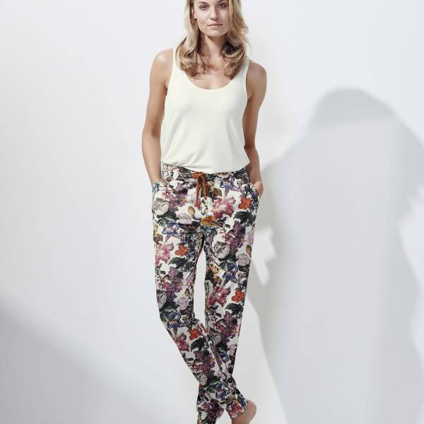 Essenza Dames nachtmode overig Essenza jules famke trousers long champagne