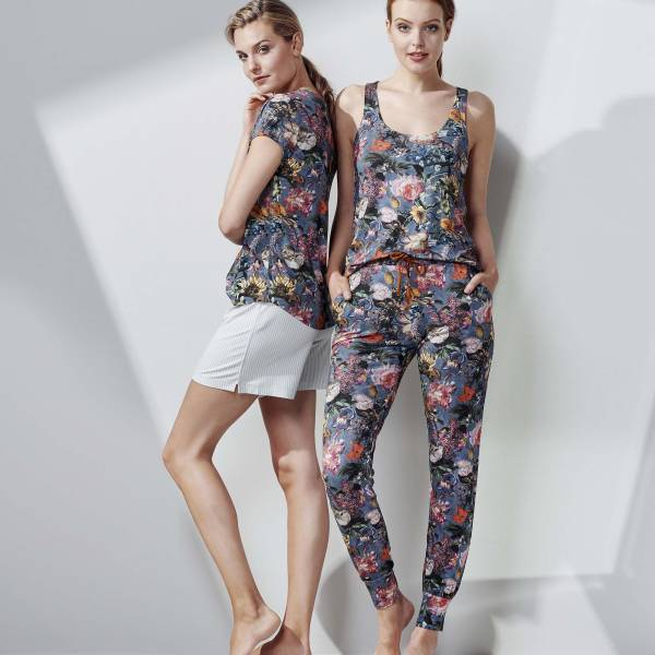 Essenza Dames nachtmode overig Essenza jules famke trousers long blauw