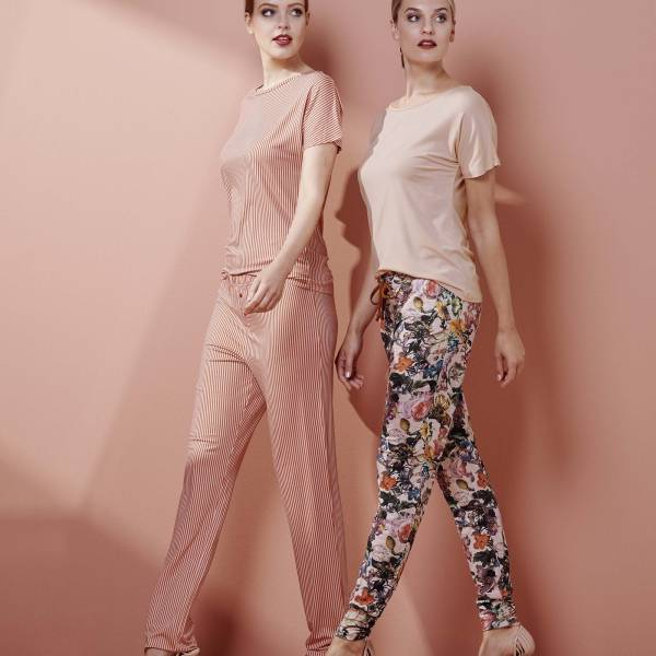 Essenza Dames nachtmode overig Essenza jules famke trousers long roze
