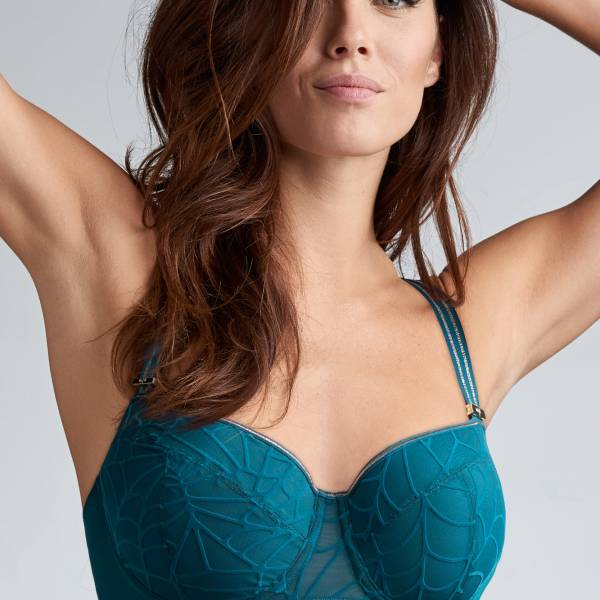 Marlies Dekkers Balconnet BH Marlies Dekkers the adventuress balcony blauw
