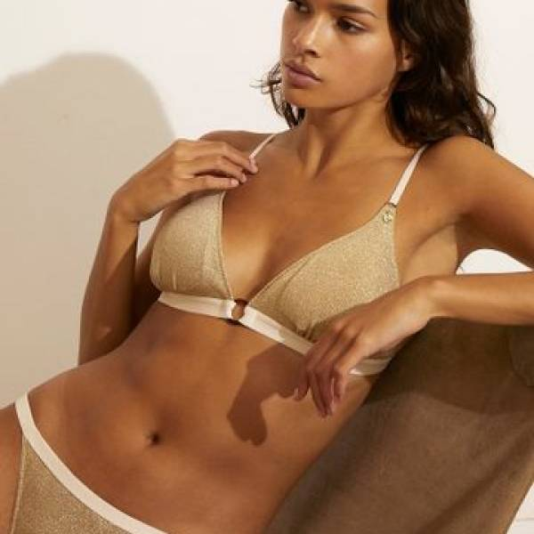 Love Stories BH zonder beugel Love Stories uma bralette goud