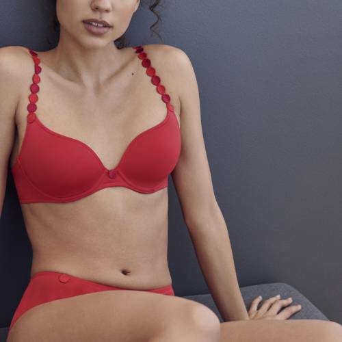 L'Aventure by Marie Jo tom padded bra - heart shape rood