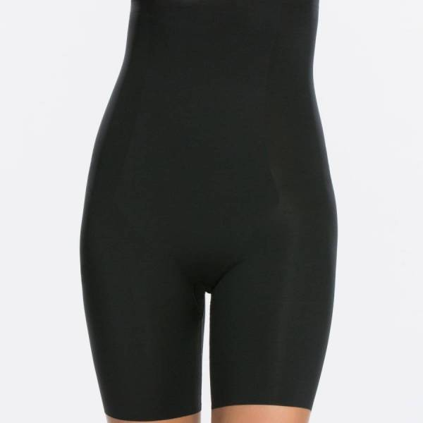 Spanx Shapewear Spanx spanx thinstincts high-waisted mid-thigh short zwart