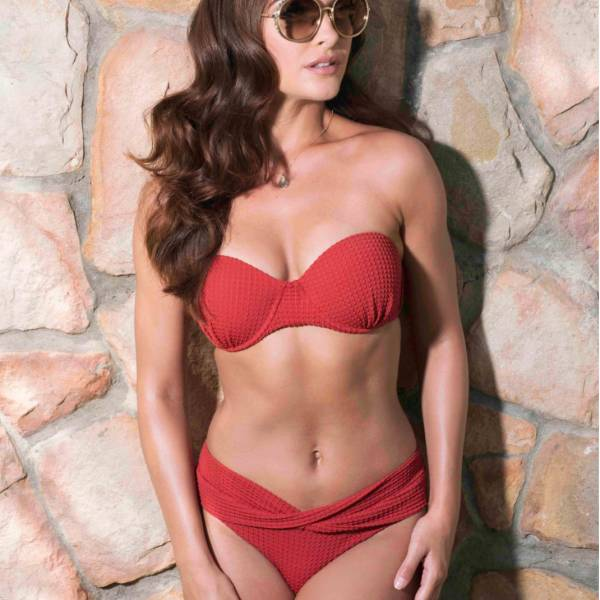 Ani Ani Bikini Top Ani Ani red jasper pre-shaped brique