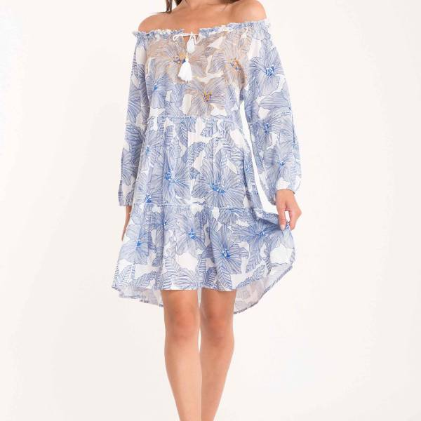 David Kaftan/Tuniek David capri dress blauw